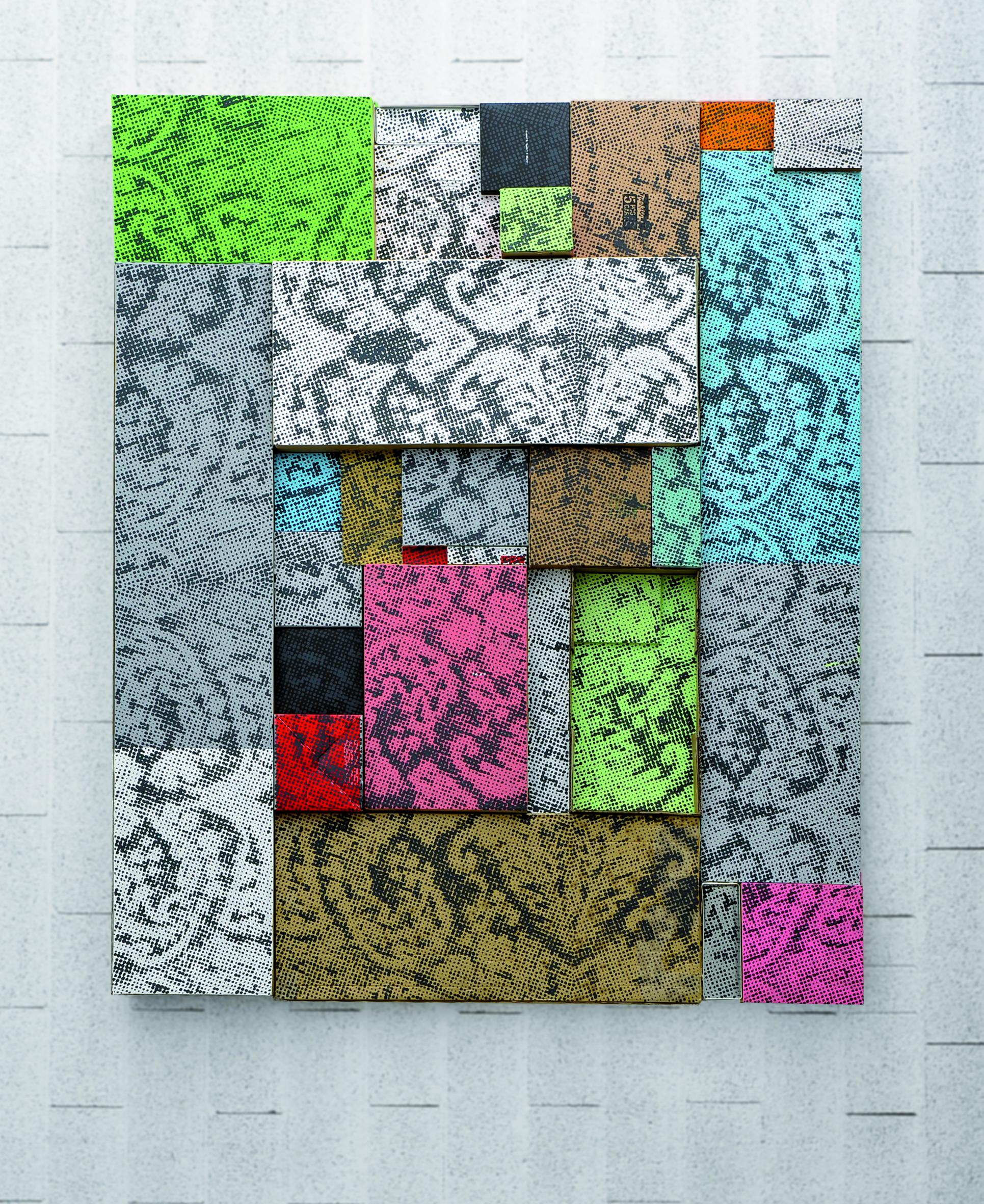 Arnold Mario Dall'O, Karton 1, pittura acrilica su cartone, 2011