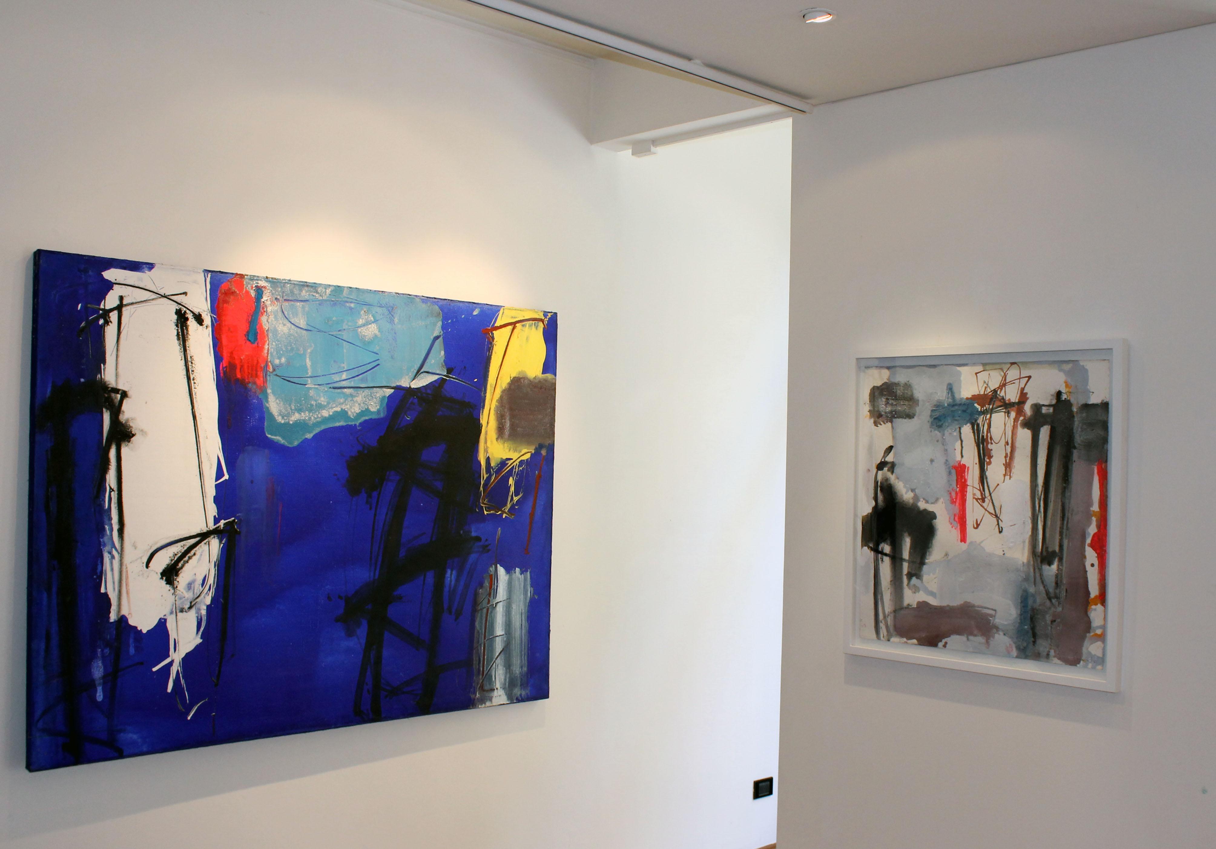"""Veduta della mostra """"Enzo Esposito. Il calore del colore"""", Studio Vigato, Milano"""