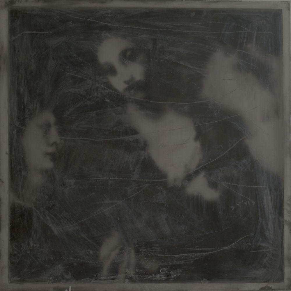 "Stefano Abbiati, ""Medioevi 5"", 2013, tecnica mista su tavola, cm 70x70. Courtesy Romberg"
