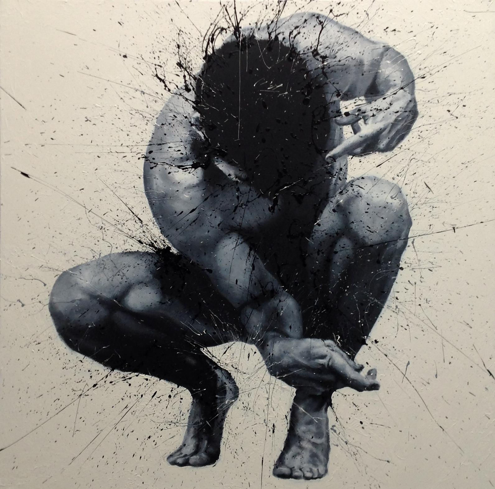 Paolo Troilo, Rannicchiato, cm 120x120