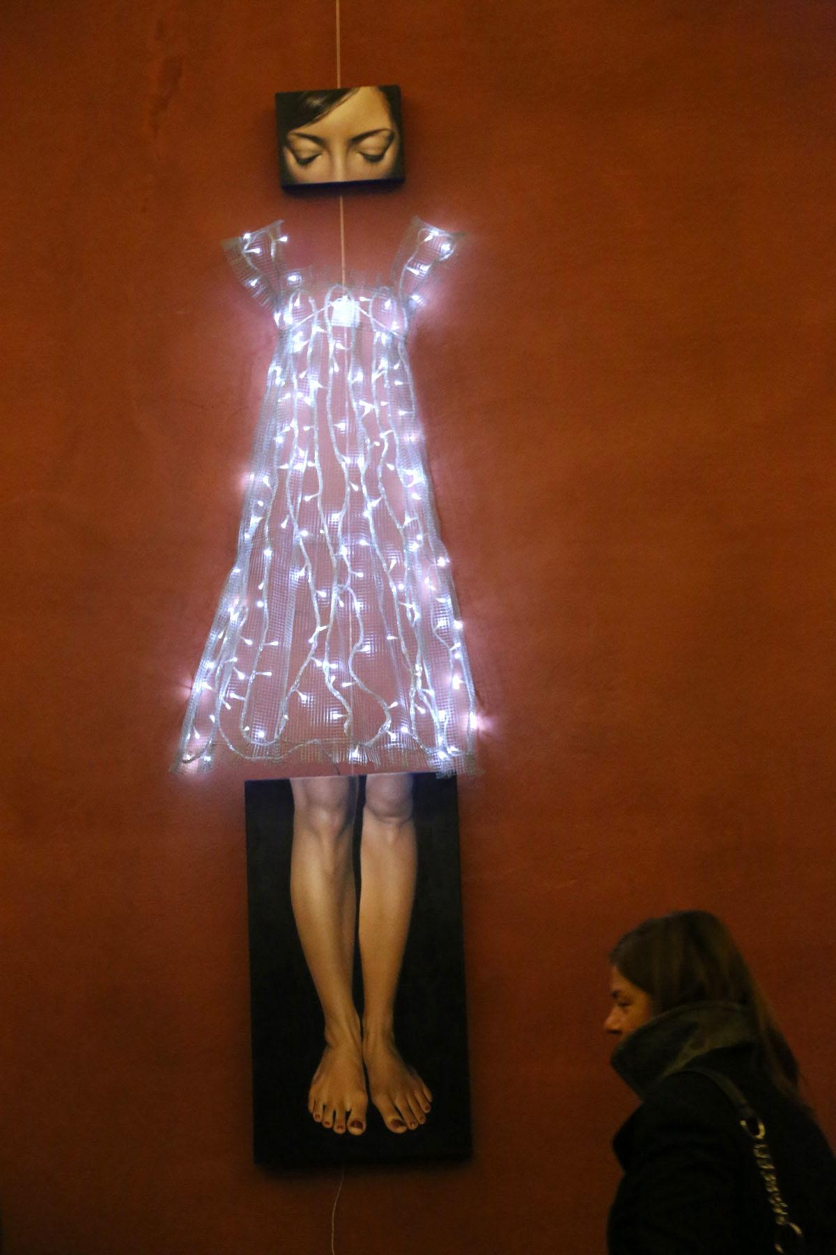 """Veduta della personale di Antonella Cinelli, """"Dolls"""", Campogrande Concept, Bologna"""