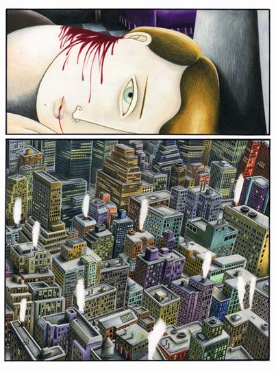 """Gabriella Giandelli, tavola originale del libro """"Silent Blanket"""", anno 1992, 48x33 cm"""