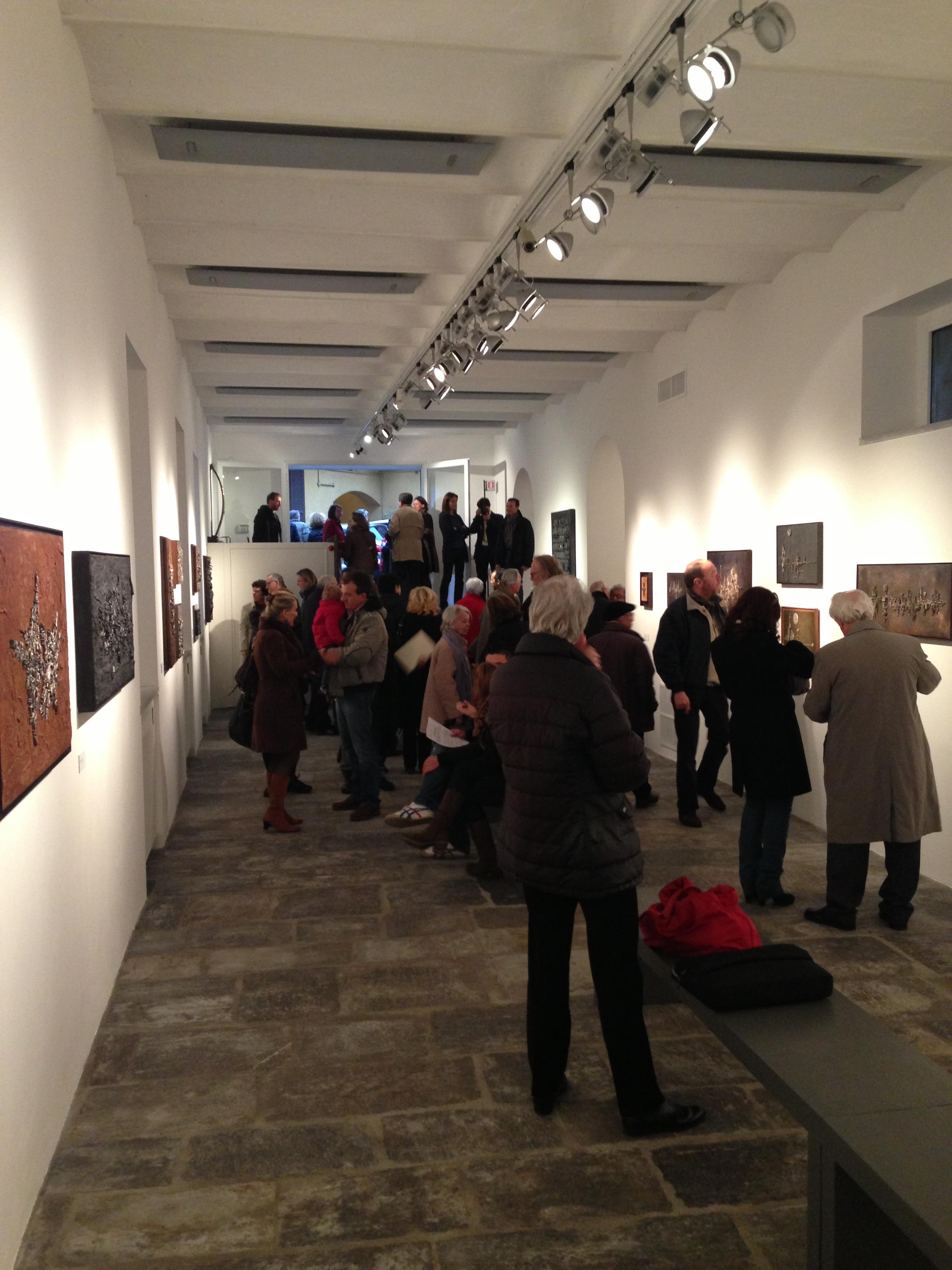 Fondazione Arnaldo Pomodoro, Milano - veduta della serara di inaugurazione, martedì 9 aprile 2013