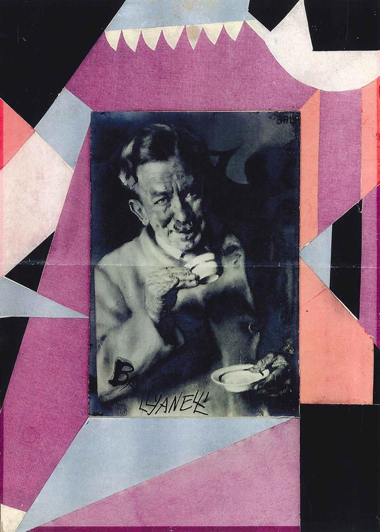 Giacomo Balla, Autocaffe, 1929 circa, collage di carte colorate, cm 25x35