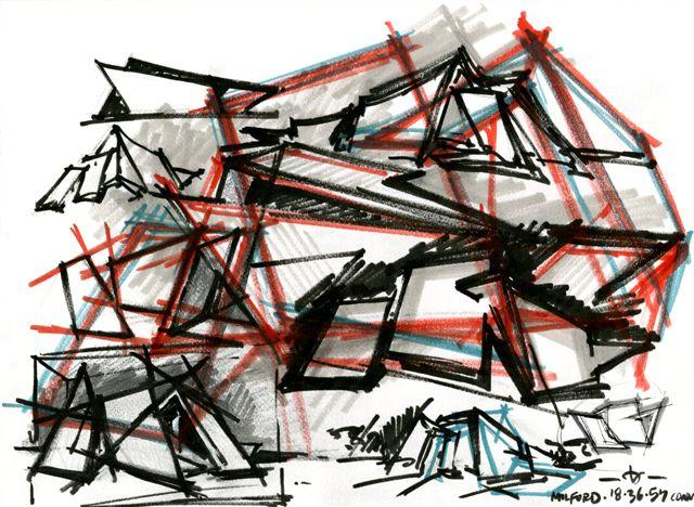 Daniel Libeskind, 18.36.54, 5, 2010, 30.5x40.6, inchiostro su carta