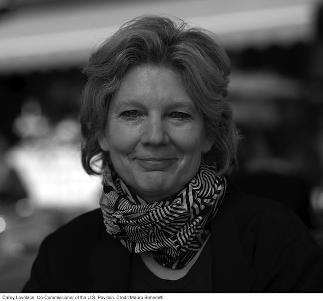 Carey Lovelace, Co-Commissario del Padiglione USA. Foto credit Mauro Benedetti