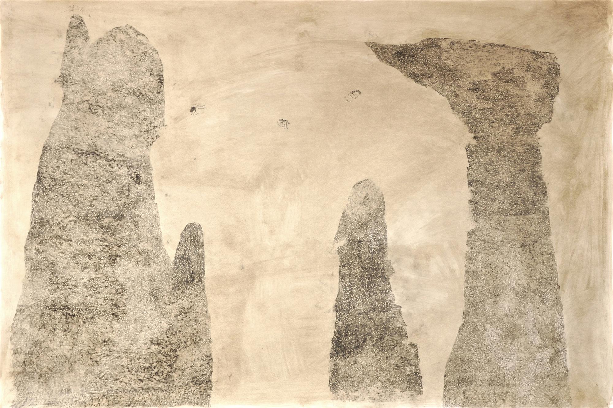 PREMIO ORIENTALMENTE Elisa Bertaglia, Alma Venus et Venatrix Diana, 100x150 cm, olio, carboncino e grafite su carta, 2013