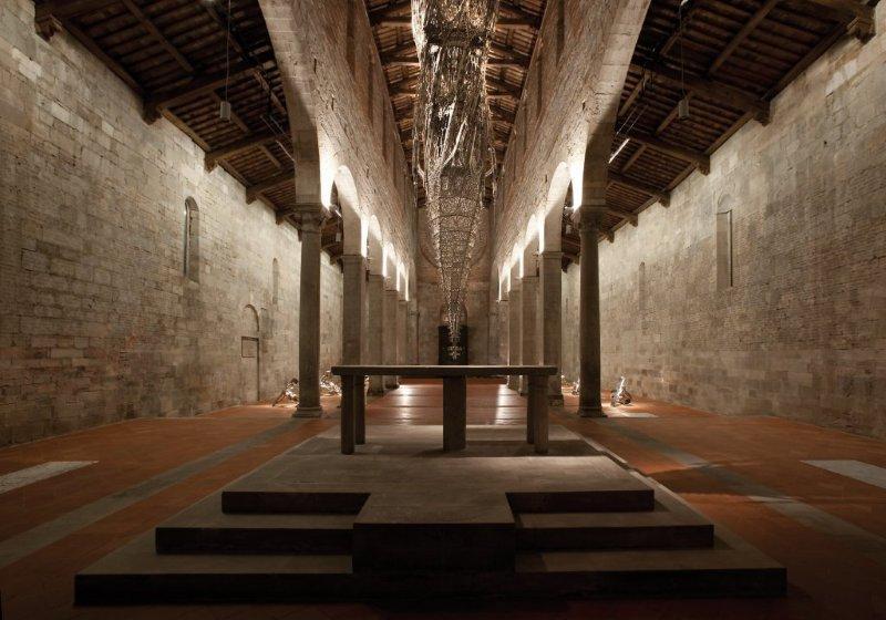 Wim Delvoye Lucca, Untitled, 2010, laser-cut stainless steel, 110x129x130 cm, © Studio Wim Delvoye