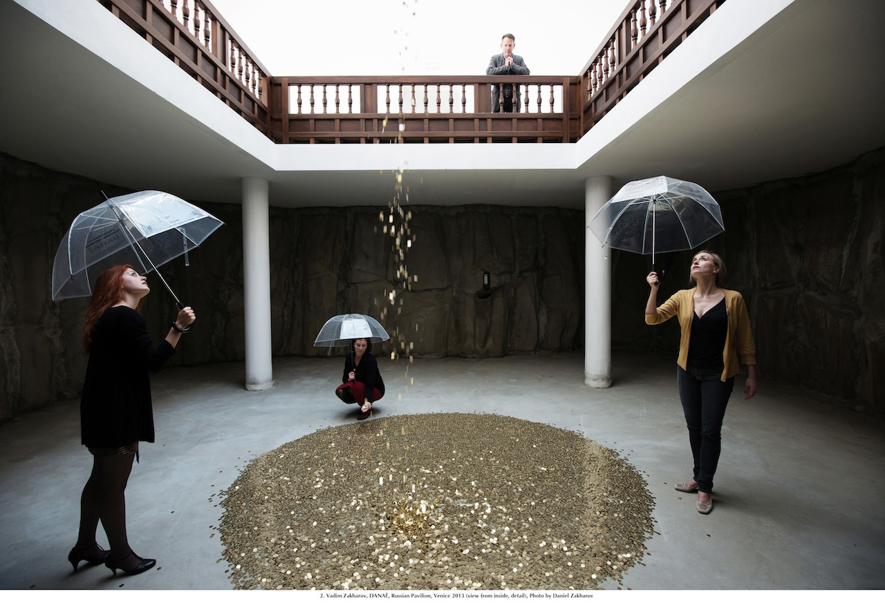 Vadim Zakharov, DANAË, Padiglione Russia, Venezia 2013 (veduta d'interno, particolare). Foto: Daniel Zakharov
