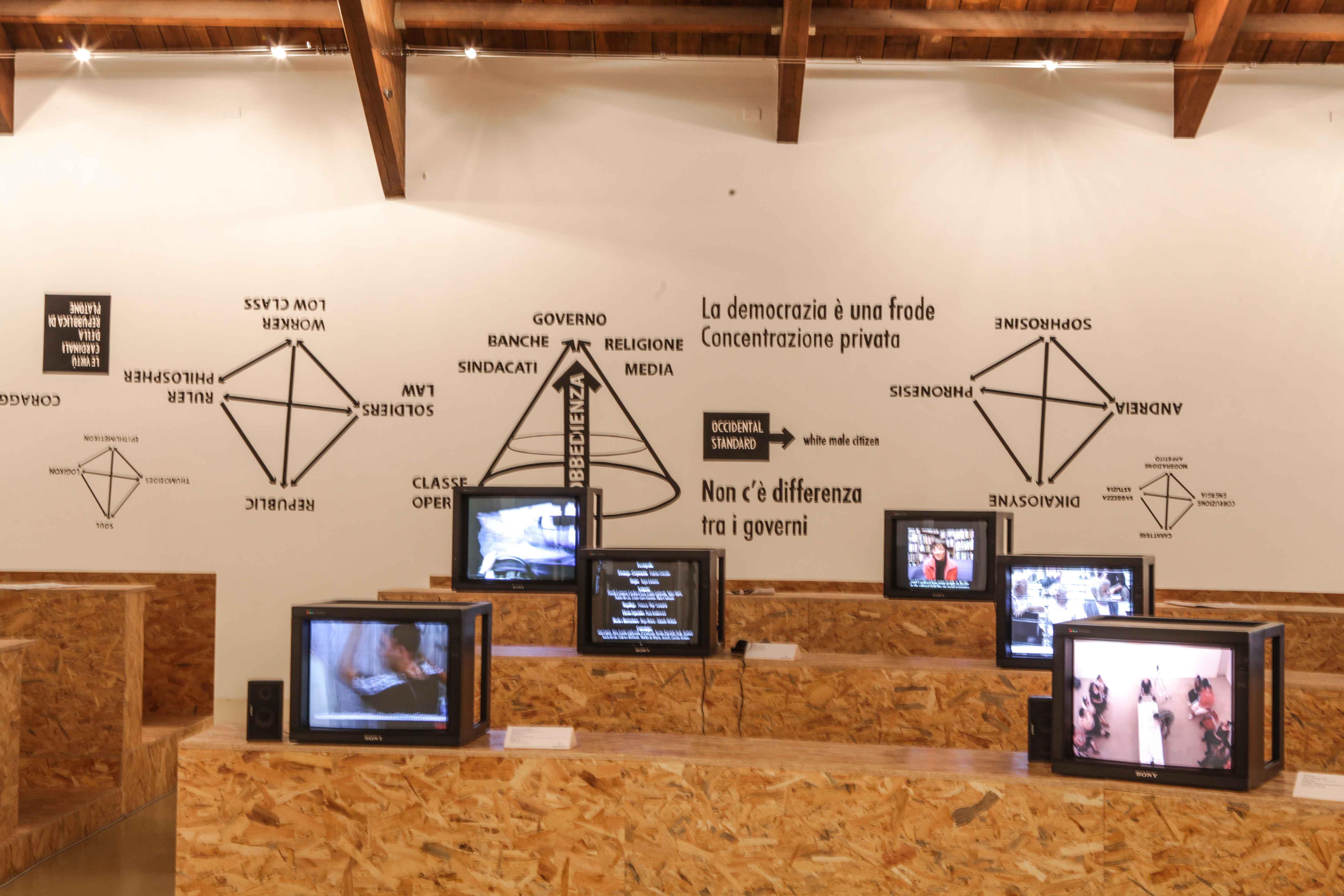Disobedience Archive (The Republic), a cura di Marco Scotini, Courtesy Castello di Rivoli Museo d'Arte Contemporanea, Rivoli – Torino, 2013. Foto: Glauco Canalis, Torino, 2013