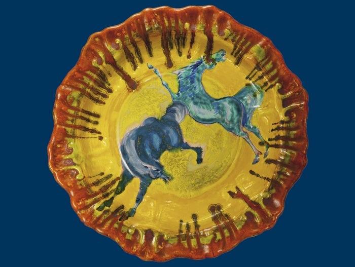 Il Gran fuoco di Aligi Sassu. 60 ceramiche e sculture dal 1939 al 1989, particolare del manifesto