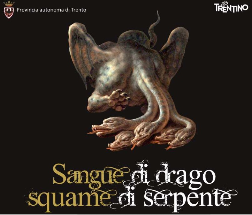 Sangue di drago squame di serpente. Animali fantastici al Castello del Buonconsiglio, particolare della locandina