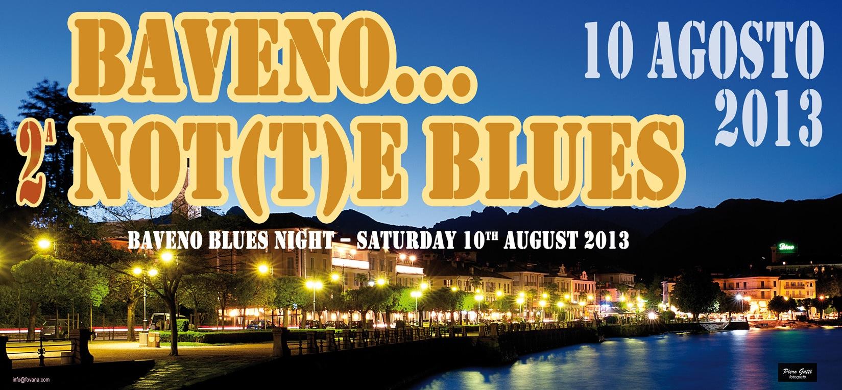 Baveno not(t)e blues 2013, particolare della locandina