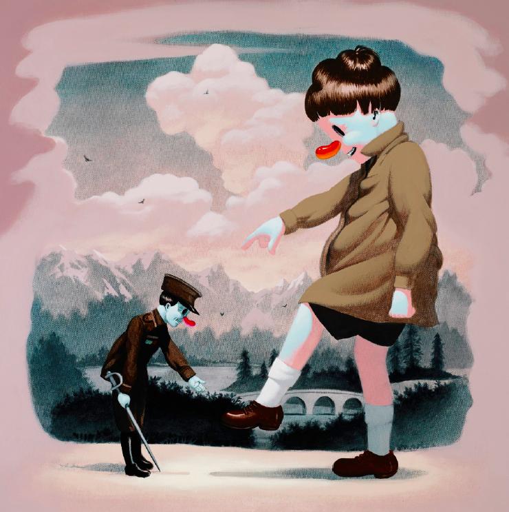 Victor Castillo, Funny Little Man, 2011, acrilico su tela, cm 60.9x60.9
