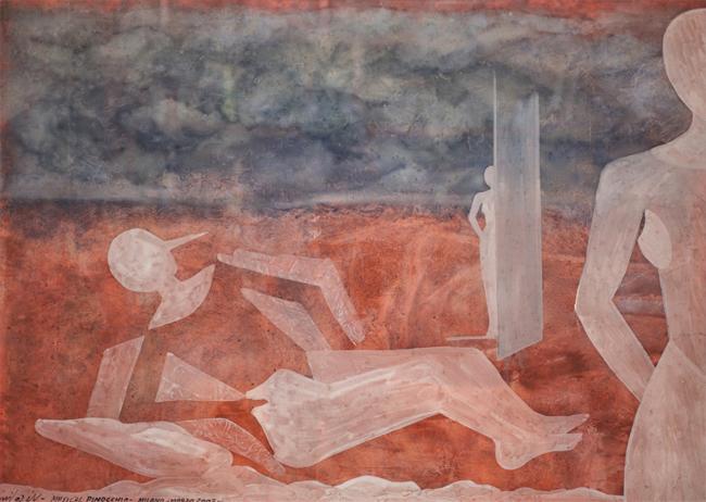 Claudio Nicolini, Musical Pinocchio, 2003, acrilici su tela, cm 71x99, collezione privata