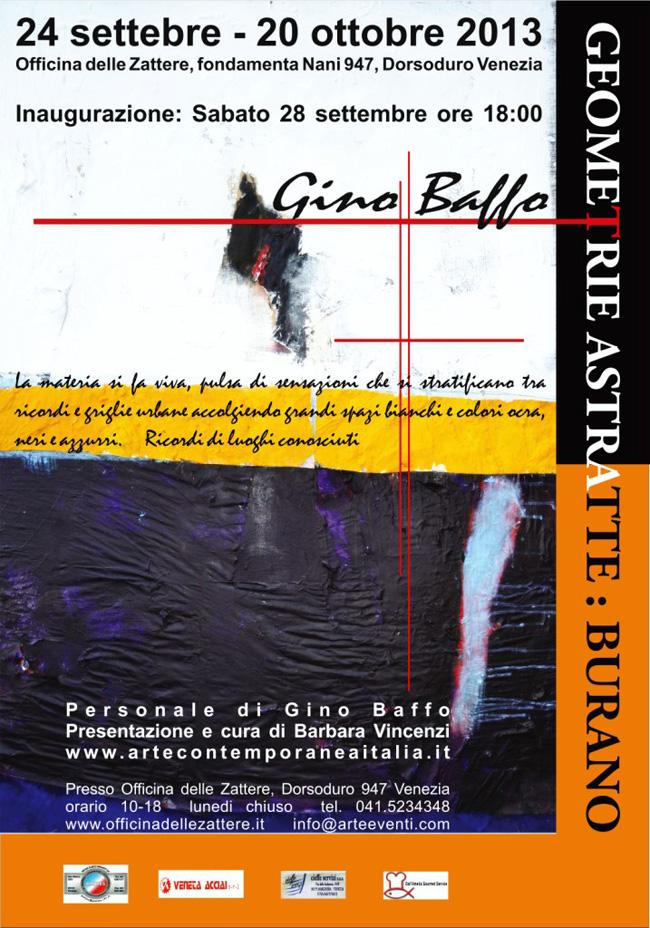 Gino Baffo. Geometrie astratte: Burano, manifesto
