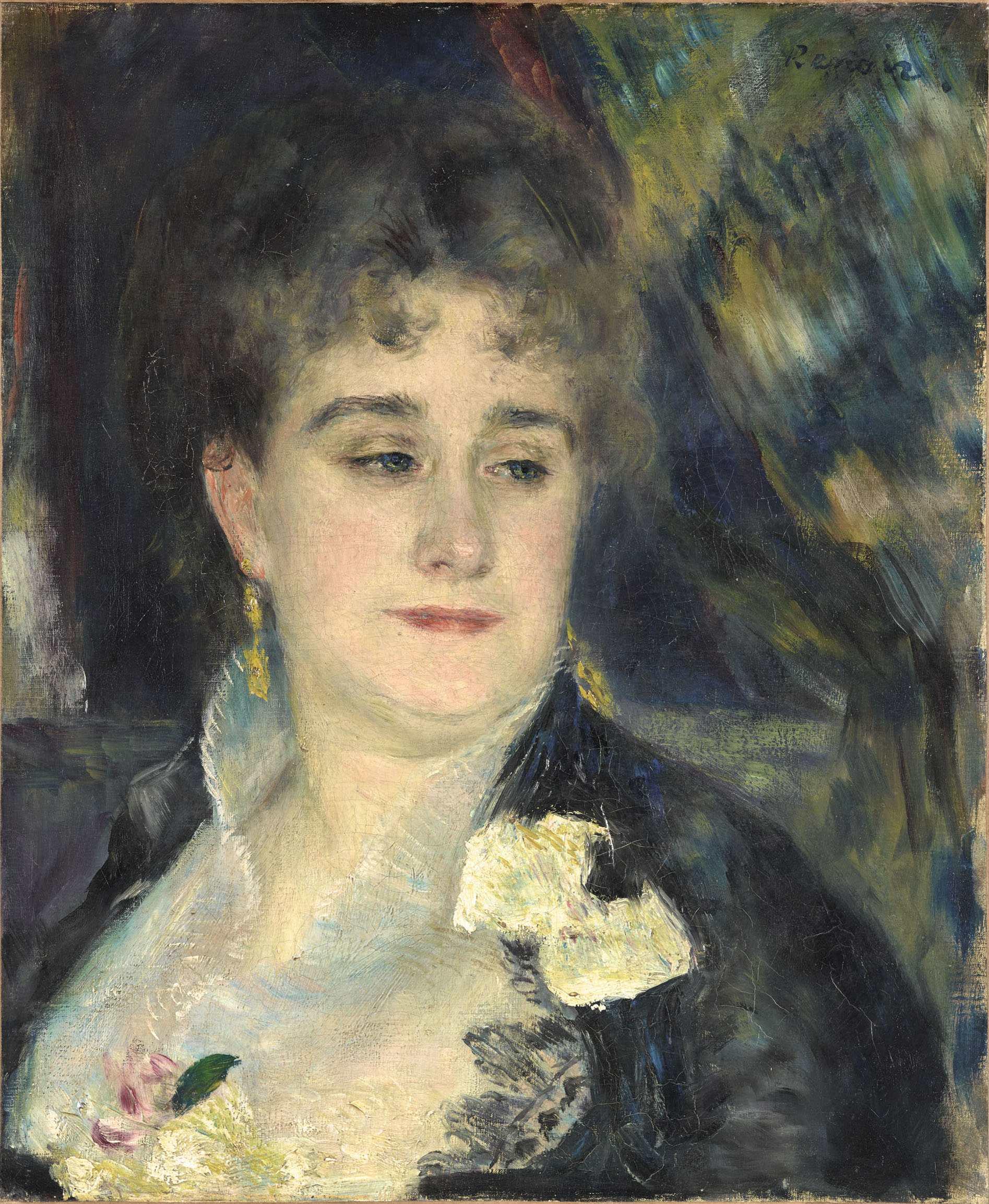 Pierre-Auguste Renoir, Madame Georges Charpentier, 1876-1877, olio su tela, 46x38 cm, Musée d'Orsay, Parigi (RF 2244) © Adrien Didierjean RMN-Réunion des Musées Nationaux / distr. Alinari