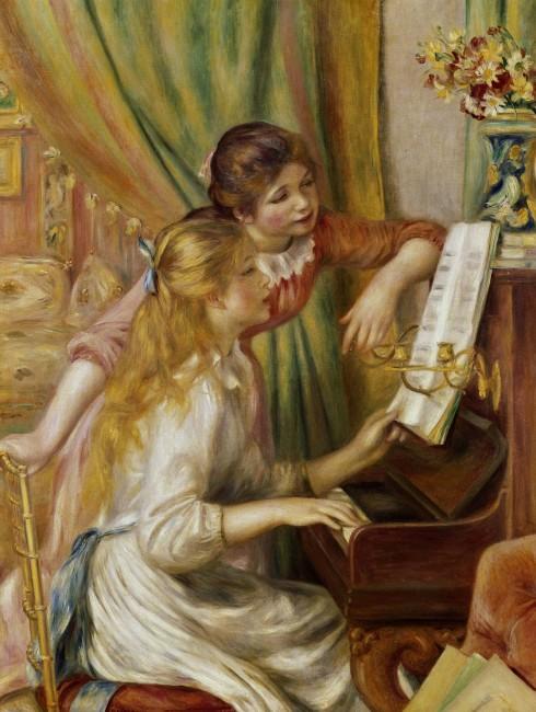 Pierre-Auguste Renoir, Jeunes filles au piano, 1892, olio su tela, 116x90 cm, Musée d'Orsay, Parigi (RF 755) © A. Koch / Interfoto / Archivi Alinari