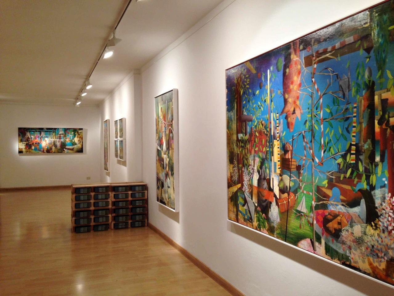 Luca Moscariello, Sotto i cardi, Bonioni Arte, Reggio Emilia, veduta allestimento
