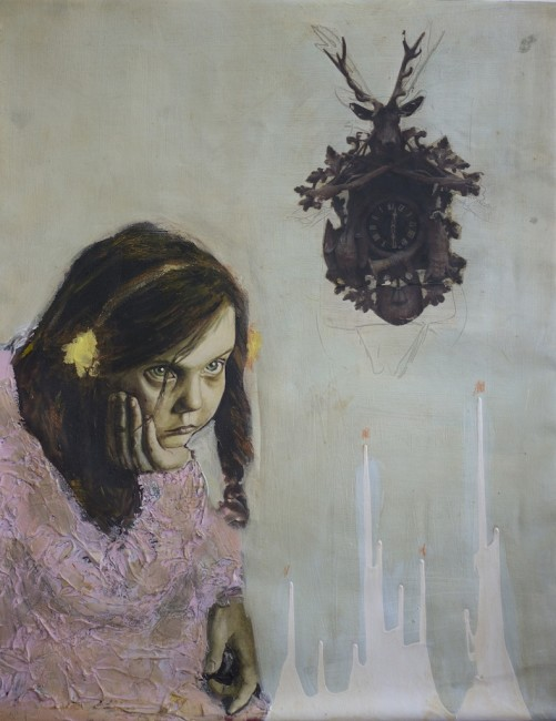 Sofia Ruiz Ugalde, Cuckoo, 2013,  olio e acrilico, 76 x 61cm