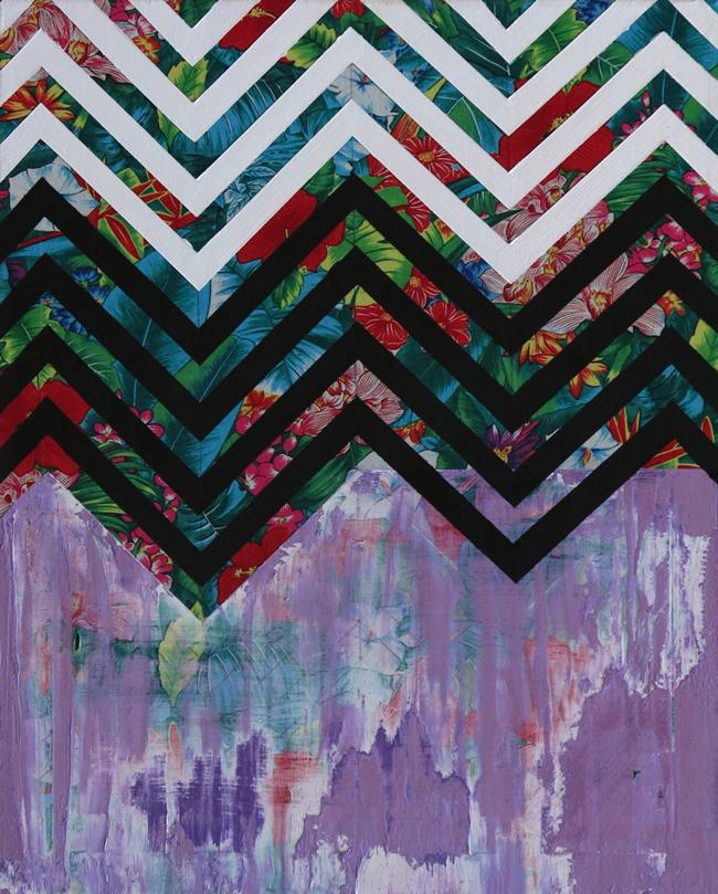 Eric Mistretta, Impending Landscape 2, 2013, Acrilico su tessuto stampato