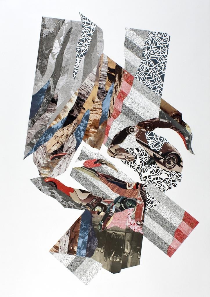 Umberto Chiodi, CROSSAGE XIV, 2013, tecnica mista, 100x70 cm