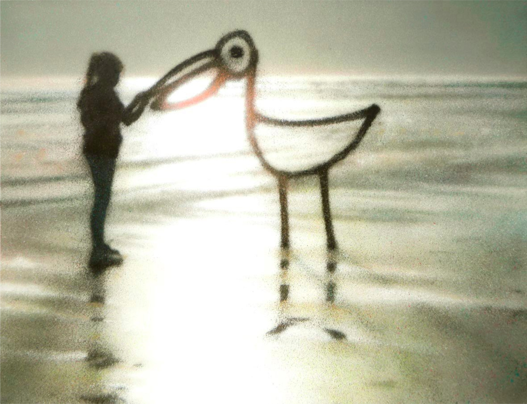 Eron, Tell me I'm not dreaming, 2012, pittura a spray su tela, cm 115x150 Courtesy collezione privata