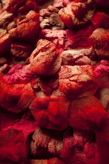 Francesca Pasquali, Setola rossa, 2010, cm 30x30x8, Collezione privata