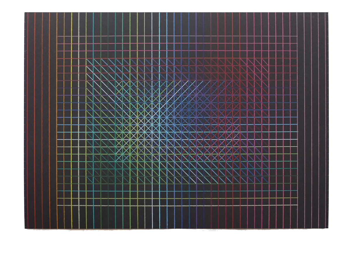 Tamás Jovánovics, '1cmSeries - Felice/triste', 2013, color pencil on paper, 29.7x42 cm