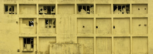 Maziar Mokhtari, former-flour-factory, 90 x 252 cm