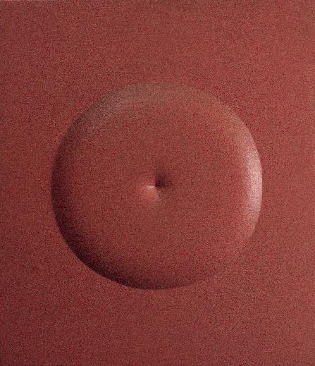 Agostino Bonalumi, Rosso, 1964, tela estroflessa e tempera vinilica, 70.5x60 cm, Collezione Intesa Sanpaolo