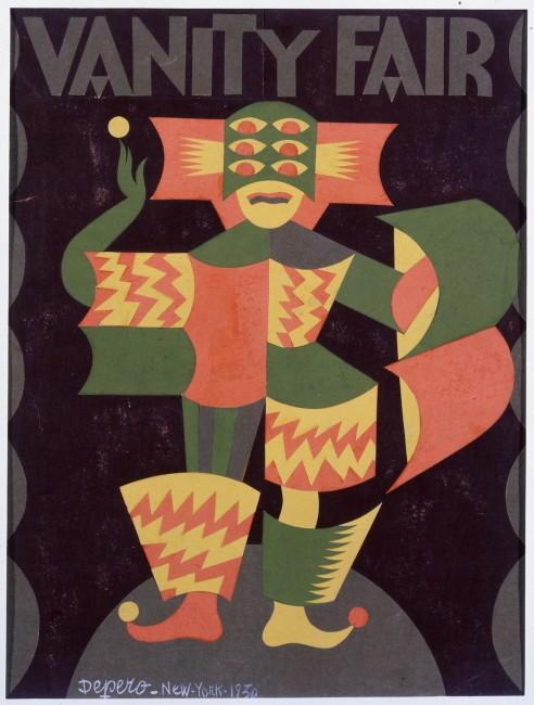 Fortunato Depero, Bozzetto di copertina per Vanity Fair
