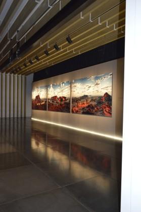 """Giacomo Costa, """"Trilogia della rivoluzione"""", installation view, 2013, cm 180x300"""