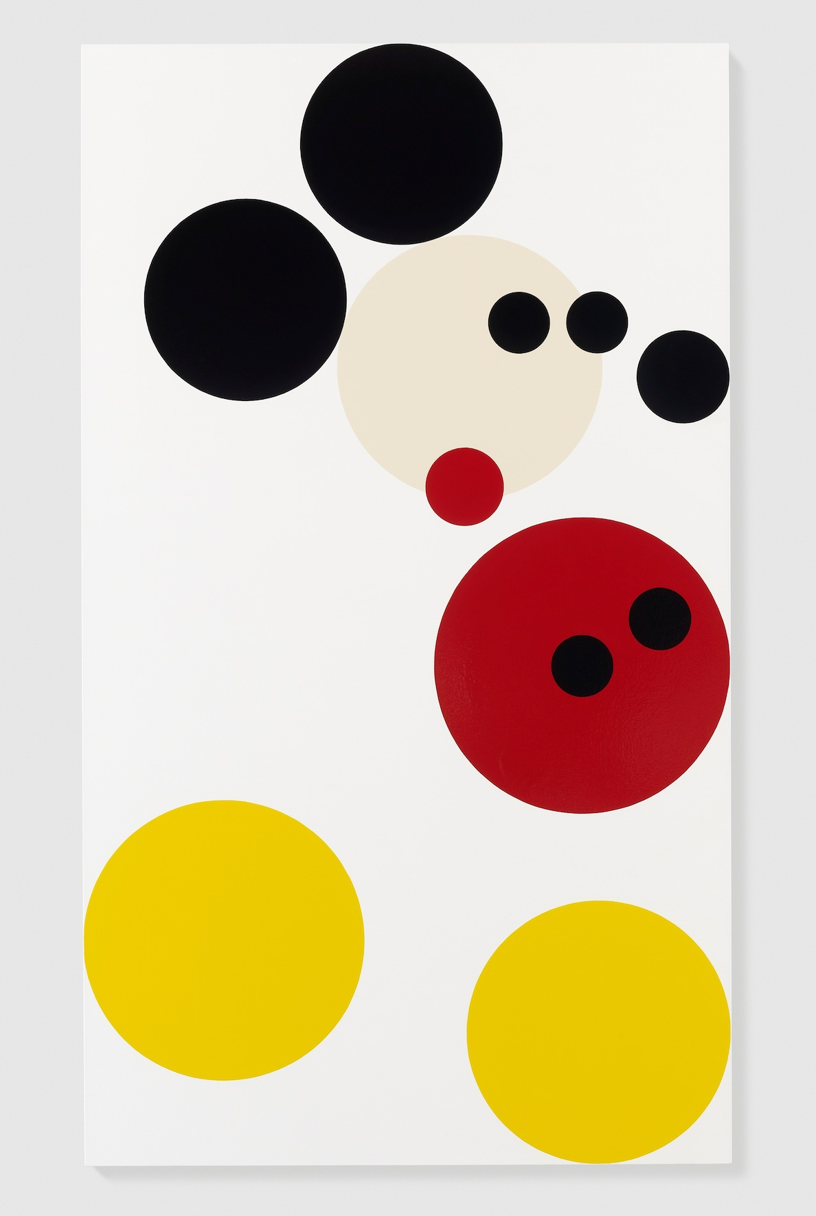 Damien Hirst, Mickey, 2013, vernice su tela, 182.9x105.4 cm, Photo by Prudence Cuming Associates