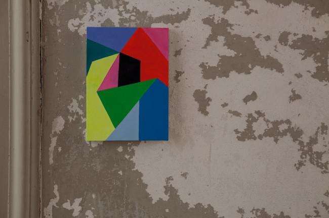 Nicola Melinelli, Senza titolo, 2013, olio su tela, 21x30 cm Courtesy AplusB contemporary art, Brescia