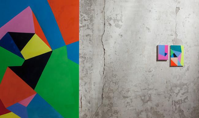 """Nicola Melinelli, veduta dell'installazione della mostra """"Oltre il pensiero"""", Pallazzo Guaineri delle Cossere, Brescia Courtesy AplusB contemporary art, Brescia"""