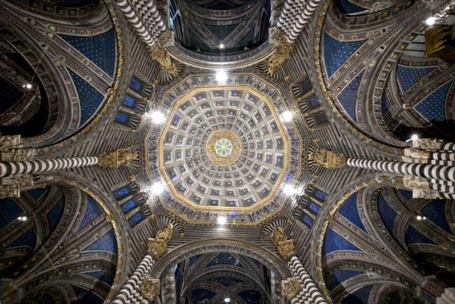 Veduta della cupola con le colonne