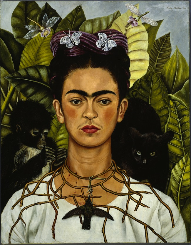 Frida Kahlo Autoritratto con collana di spine, 1940 Olio su tela, cm 63,5 x 49,5 Harry Ransom Center, Austin © Banco de México Diego Rivera & Frida Kahlo Museums Trust, México