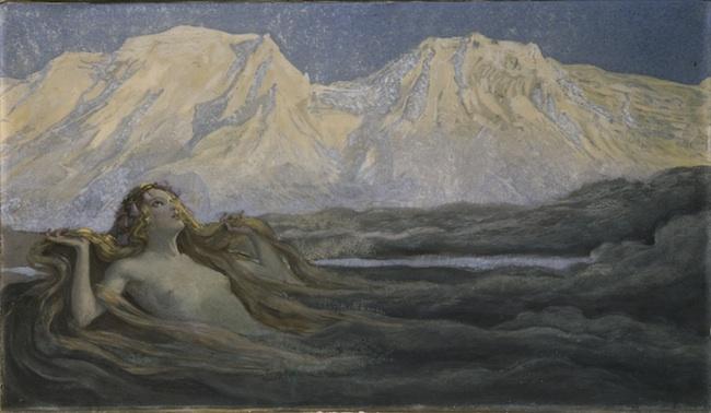 Alfons Siber, Risveglio di primavera, 1905, olio su tela, Innsbruck - ATiroler Landesmuseum Ferdinandeum