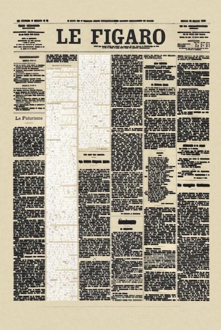 Emilio Isgrò, Cancello il Manifesto del Futurismo, 2012, dettaglio dell'installazione