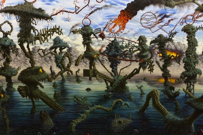 Fulvio Di Piazza, Pacific, 2014, olio su tela, cm 200x300