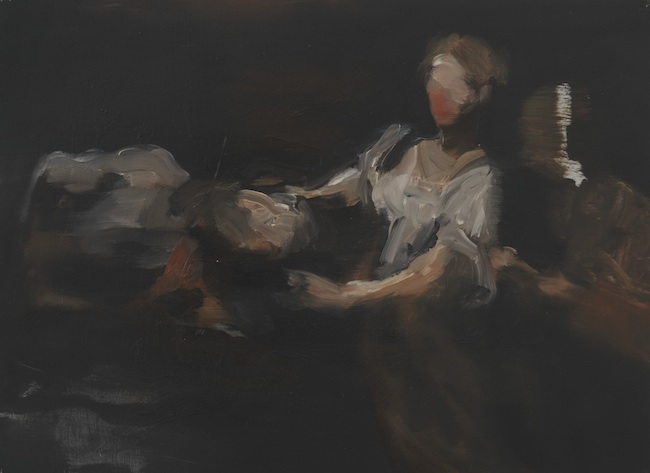 Nazzarena Poli Maramotti, Oloferne, 2012, olio su carta, cm 30x40