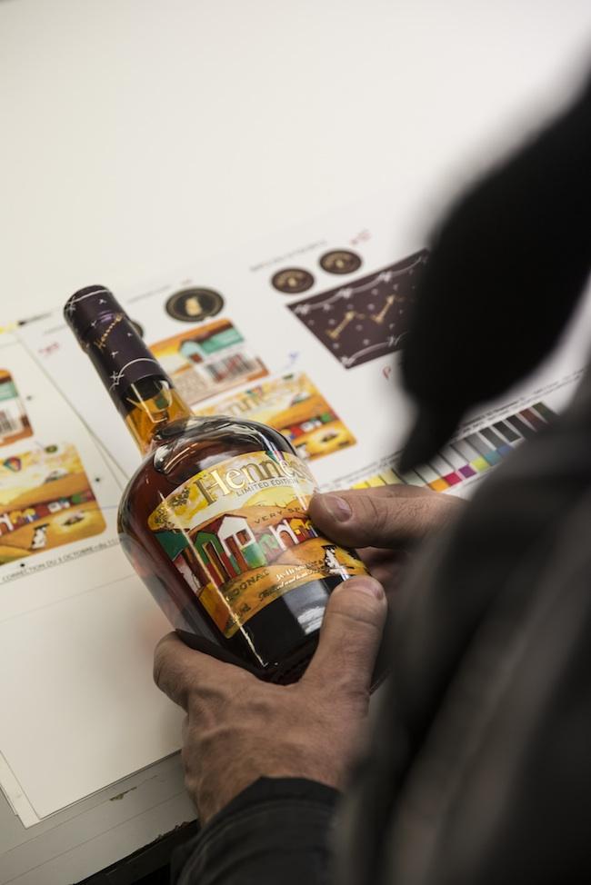 Etichetta di Os Gemeos per la Limited Edition Hennessy Very Special