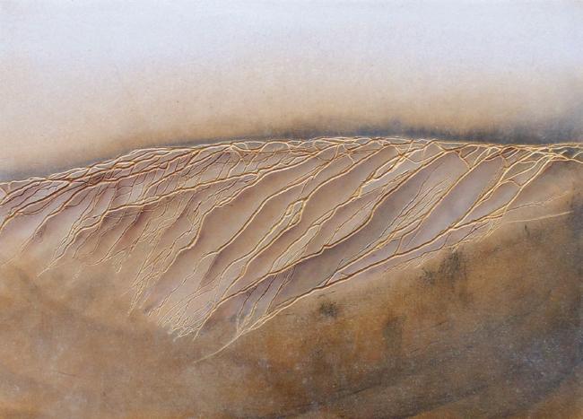Giulia Dall'Olio, g 4][6 d, 2014 olio e pastello su tavola incisa, cm 26,5x37,7