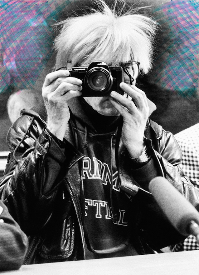 Maria Mulas, Ritratto di Andy Warhol,1987, Ritratto con intervento stampa fotografica sistema lambda montata sotto plexiglass_tiratura 1-5, cm 50x70