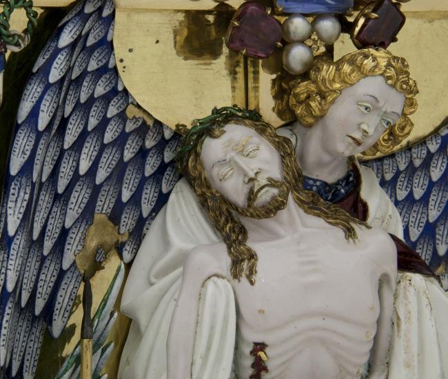 Particolare del reliquiario di Sisto V, dopo il restauro, courtesy Opificio delle Pietre Dure