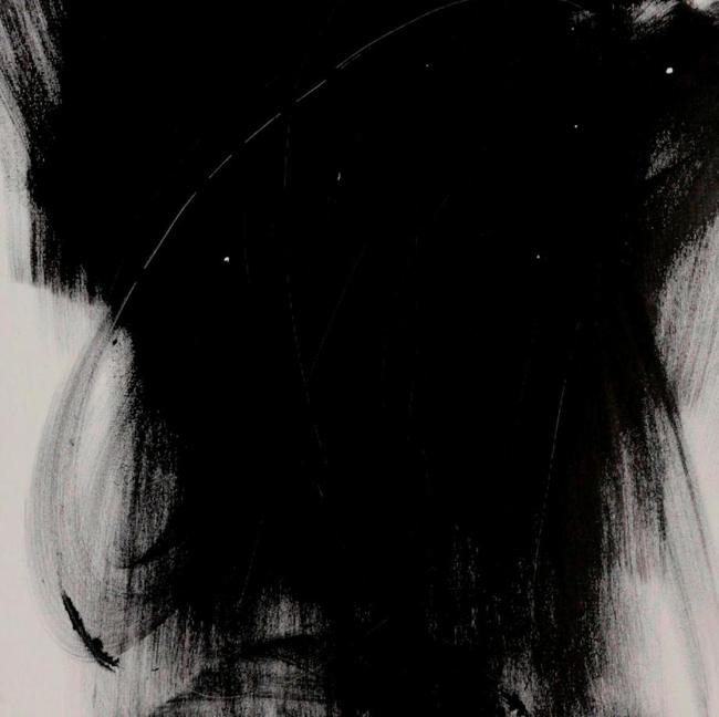 Alessandra Angelini, Scomponibili armonie, Uno, 2006, tempera e paste materiche su tela, cm 50x50