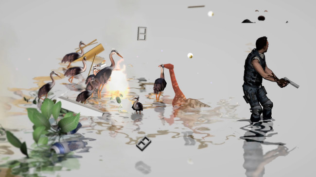 Ian Cheng, Entropy Wrangler, 2013, live simulation, infinite duration, sound screen capture still