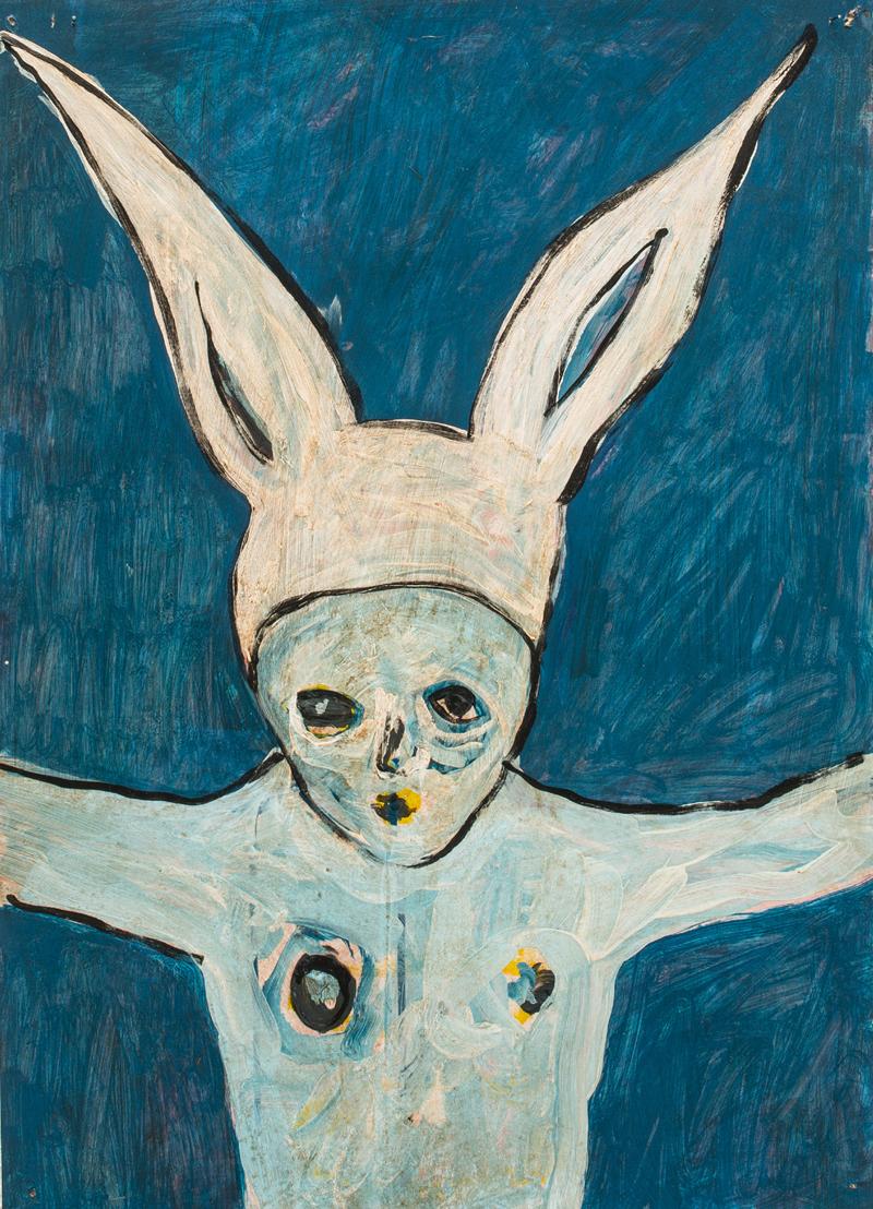 Thomas Berra, Acrilico e smalto su carta, 50x70 cm, 2014