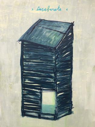 Thomas Berra, Acrilico e smalto su tela, 60X80 cm, 2014